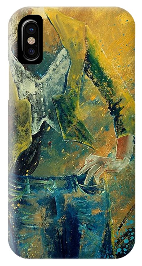 Woman Girl Fashion IPhone Case featuring the painting Dinner Jacket by Pol Ledent