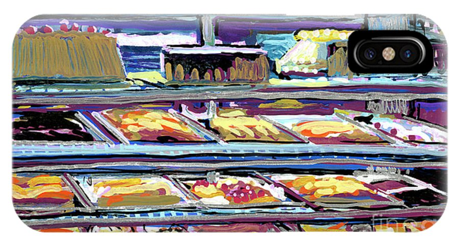 Pastries IPhone X Case featuring the painting Dinner Pastry Case by Candace Lovely