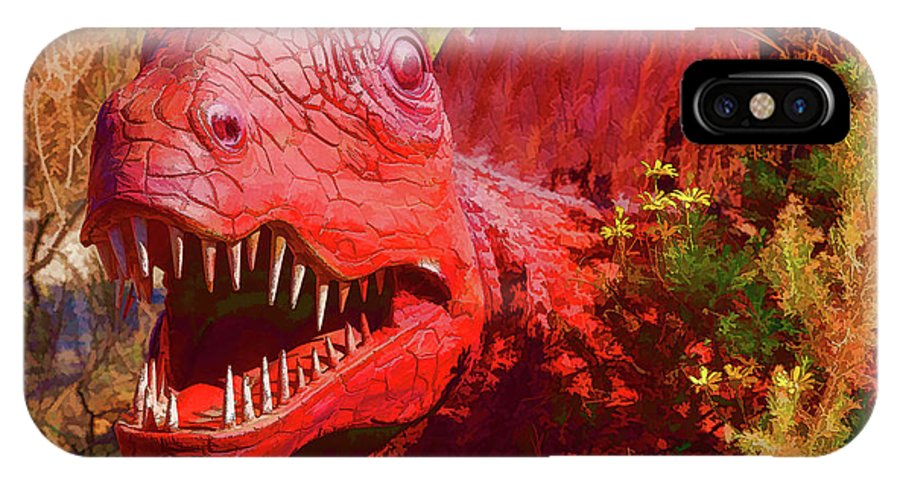 Dinosaur IPhone X Case featuring the photograph Dinosaurs 8 by Mike Penney