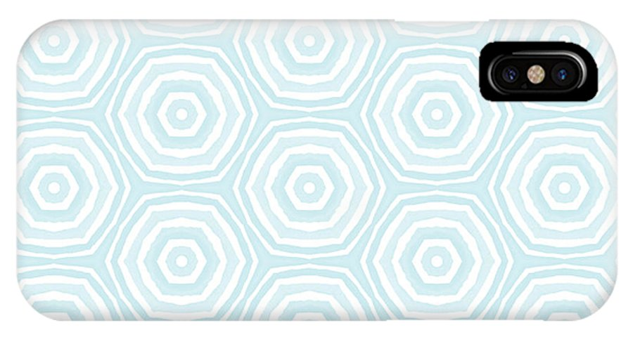 Circles IPhone X Case featuring the digital art Dip In The Pool - Pattern Art By Linda Woods by Linda Woods