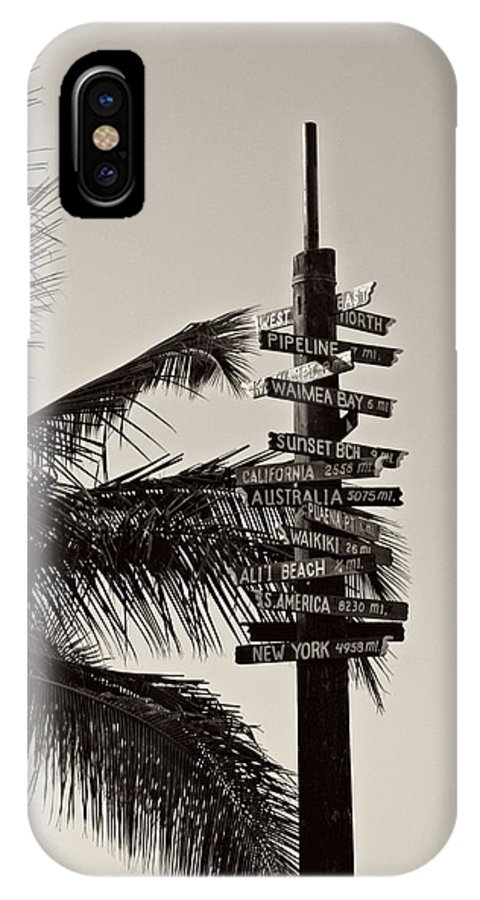 Hawaii IPhone X Case featuring the photograph Directions by Nick Difi
