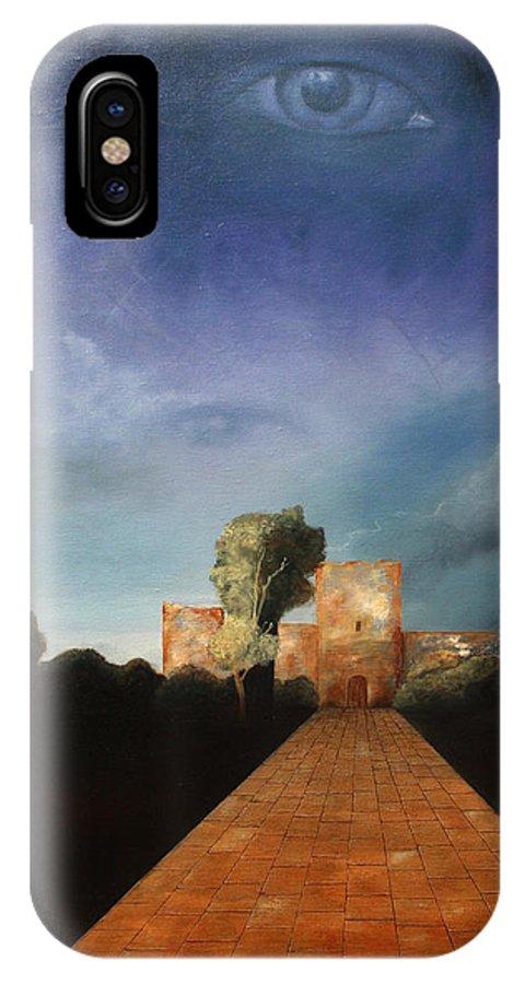 Disclosure Of The Hidden IPhone X Case featuring the painting Disclosure Of The Hidden by Darko Topalski