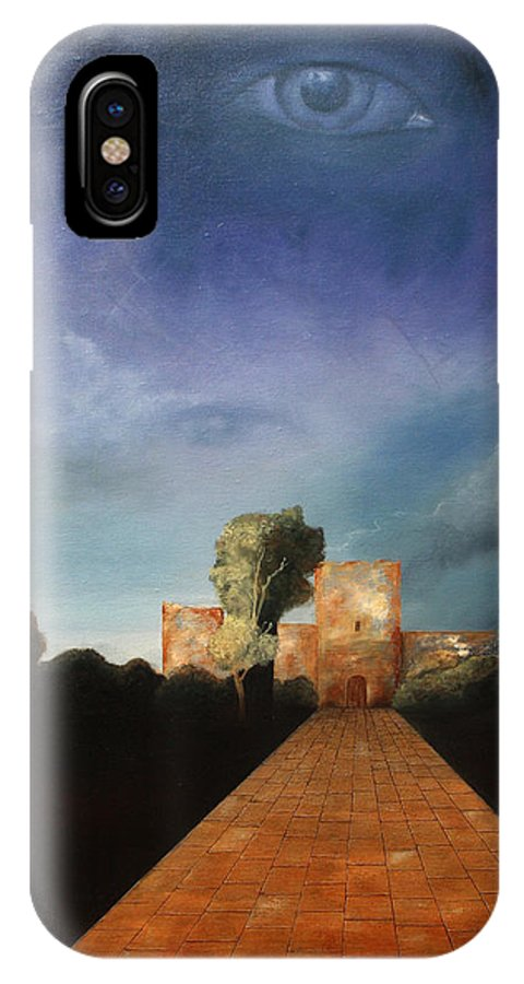 Disclosure Of The Hidden IPhone X Case featuring the painting Disclosure Of The Hidden by Darko Topalski