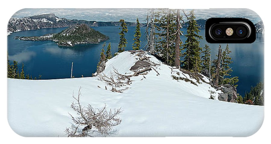 Panorama IPhone X Case featuring the photograph Discovery Point Panorama by Greg Nyquist