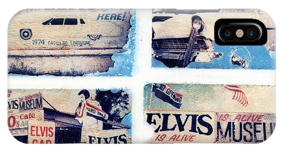 Elvis IPhone X Case featuring the photograph Disgraceland by Jane Linders