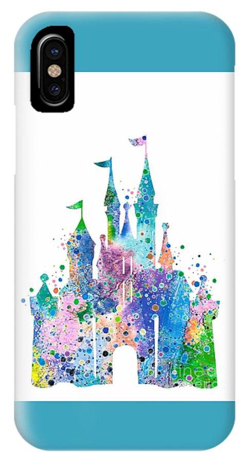 official photos 9d18b e8aa0 Disney Castle 2 Watercolor Print IPhone X Case