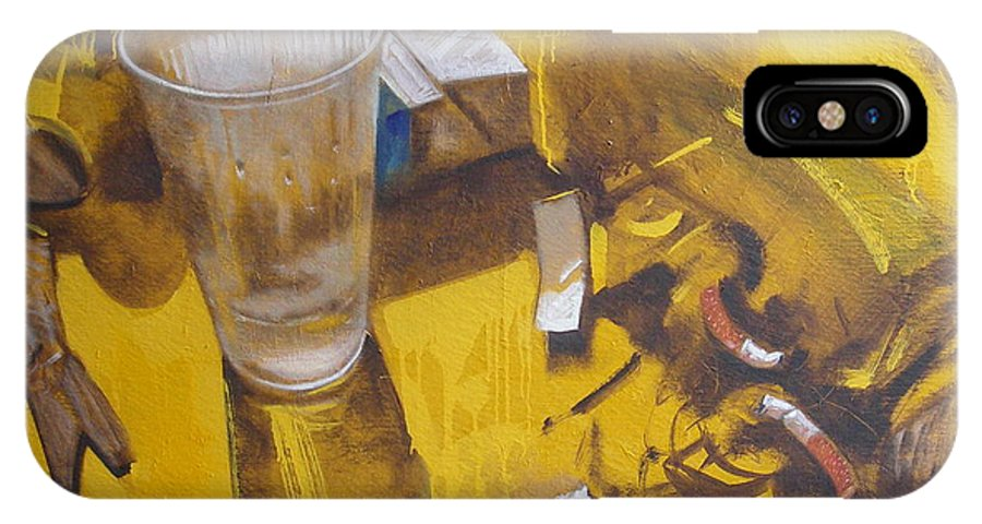 Disposable IPhone Case featuring the painting Disposable by Sergey Ignatenko