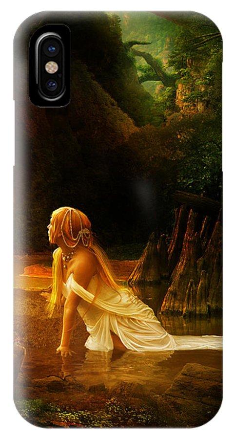 Cave IPhone X Case featuring the digital art Distant Horizon by Karen Koski