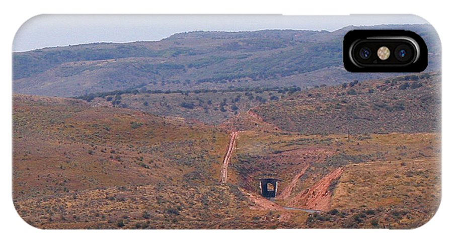 Pat Turner IPhone X / XS Case featuring the photograph Distant Tunnel by Pat Turner