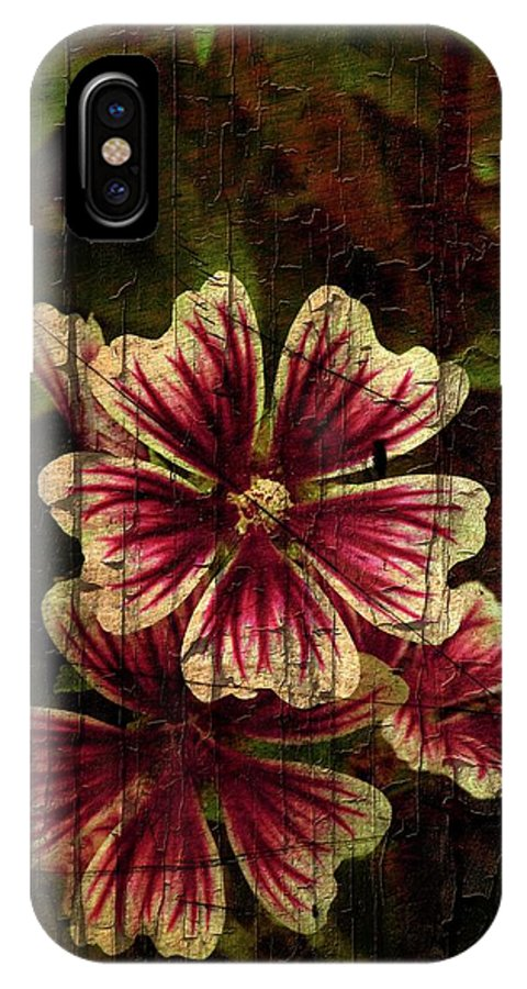 Flowers IPhone X Case featuring the photograph Distinctive Blossoms by Sherman Perry