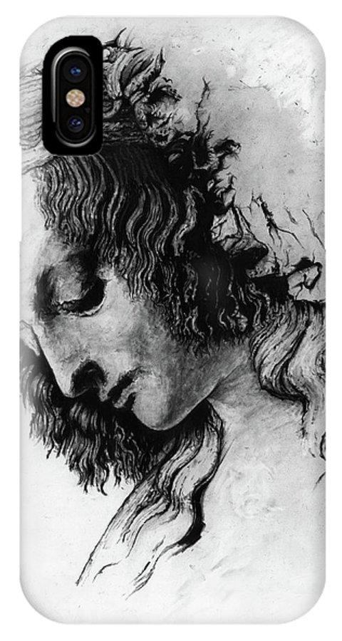 Portrait Woman Leonardo Da Vinci Italian Ancient Renaissance Reproduction Mary Magdalene Christ Code IPhone Case featuring the drawing Districhi Di Magdalene by Priscilla Vogelbacher
