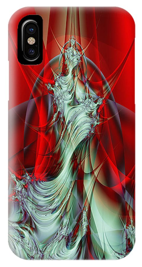 Fractal IPhone X Case featuring the digital art Diva by Frederic Durville
