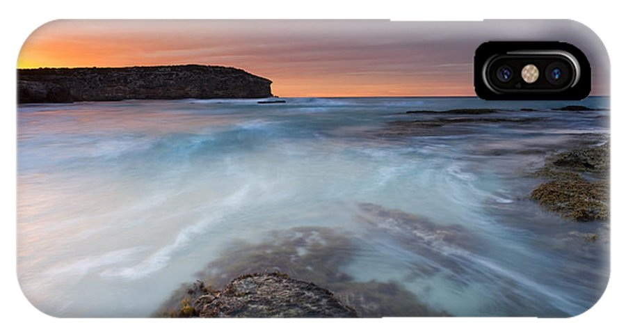Dawn IPhone X Case featuring the photograph Divided Tides by Mike Dawson