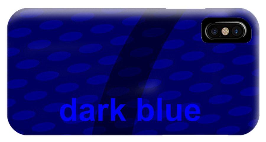 Divine IPhone X Case featuring the digital art Divine Dark Blue Seven by Maciej Mackiewicz