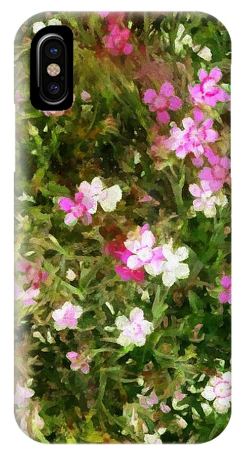 Dianthus IPhone X Case featuring the painting Divine Maidens by RC DeWinter