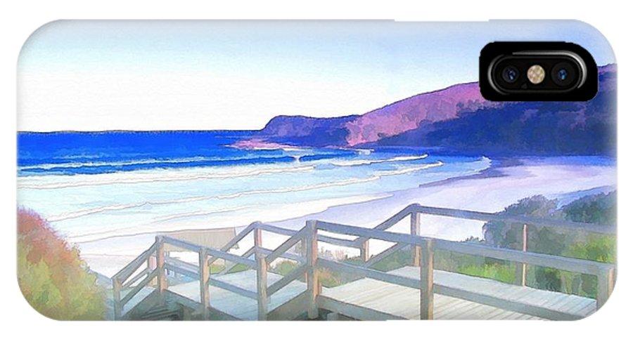 Frasier Beach IPhone X / XS Case featuring the photograph Do-00103 Frasier Beach by Digital Oil