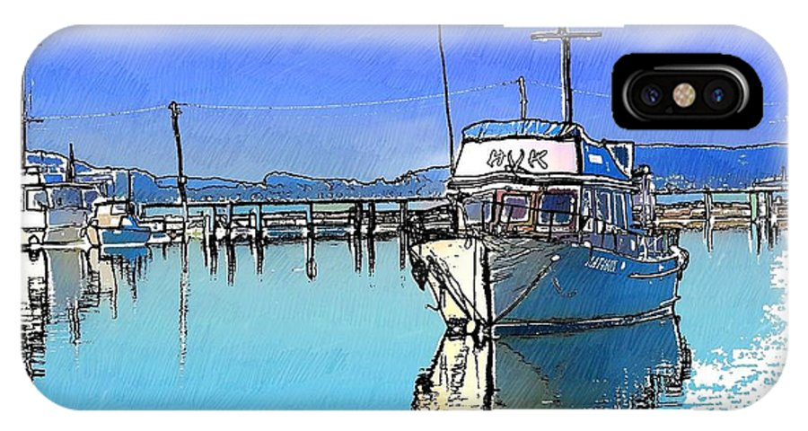 Boat IPhone X / XS Case featuring the photograph Do-00231 Hvk Boat Gosford by Digital Oil