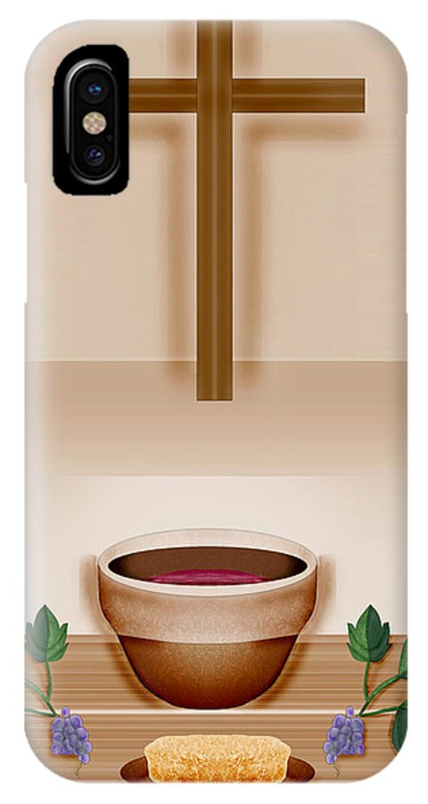 Holy Communion IPhone X Case featuring the painting Do This In Remembrance Of Me by Anne Norskog