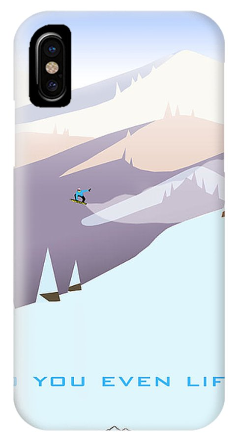 Ski IPhone X / XS Case featuring the digital art Do You Even Lift by Alicia Somolinos