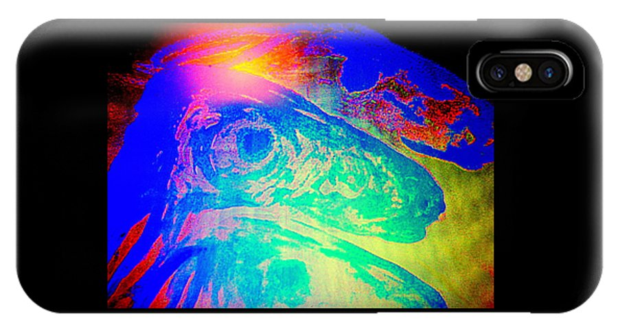 Dog IPhone X Case featuring the painting Do You Know Who We Are Or Do You Just Judge Us  by Hilde Widerberg