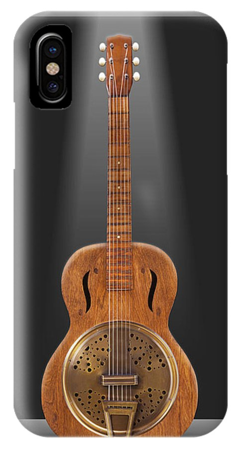 Spot Light IPhone X Case featuring the photograph Dobro In A Box by Mike McGlothlen