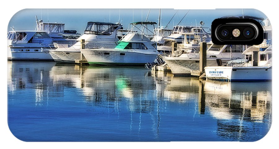 Boat IPhone X Case featuring the photograph Dock o' the Bay by Ches Black