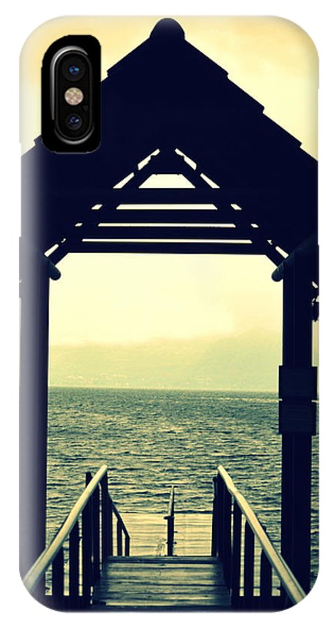 Dock IPhone X Case featuring the photograph Dockside by Bill Hamilton