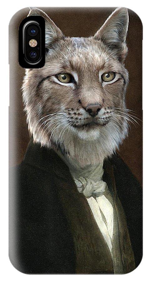 Portrait IPhone X Case featuring the painting Doctor Cronus by Matt Van Gorkom
