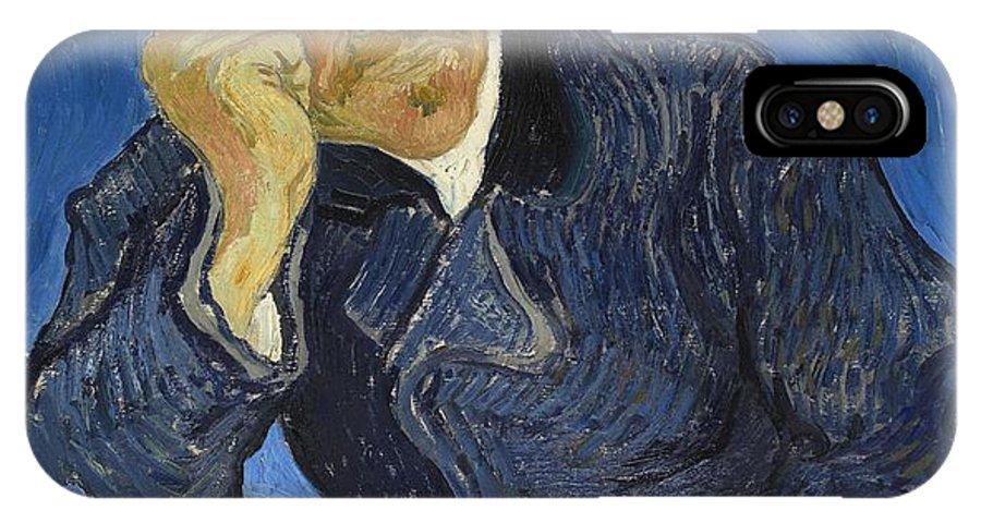 Vincent Van Gogh IPhone X Case featuring the painting Doctor Paul Gachet by Vincent Van Gogh