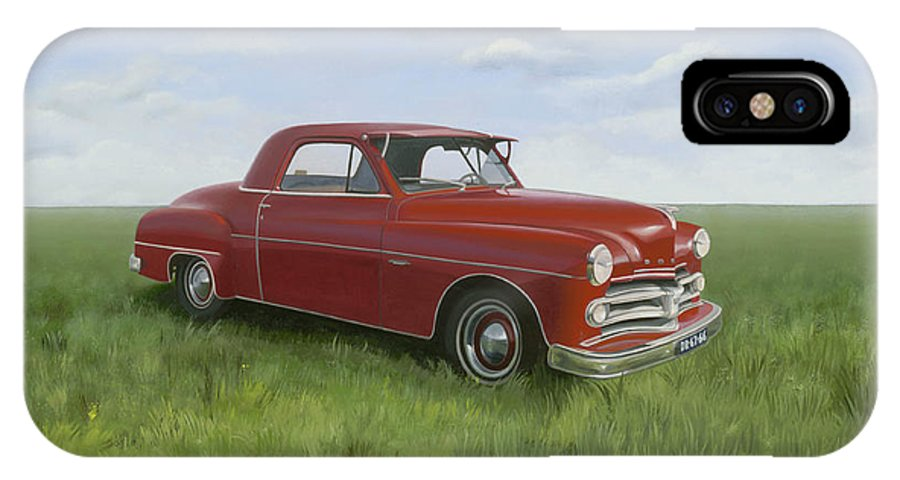 Classic IPhone X Case featuring the painting Dodge by Patricia Van Lubeck