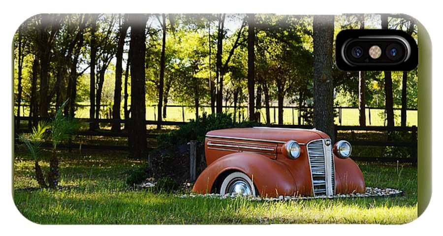 Dodge Ram Yard Art 2 IPhone X Case featuring the photograph Dodge Ram Yard Art 2 by Warren Thompson