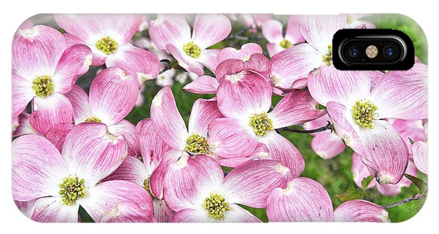 Dogwood IPhone X Case featuring the digital art Dogwood Beauty by Anita Hubbard