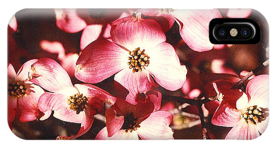 Dogwood IPhone X Case featuring the photograph Dogwood Harmony by Nancy Mueller