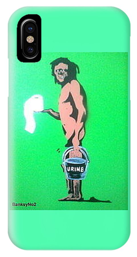Figurative IPhone X Case featuring the painting Doing The Buisness by MERLIN Vernon
