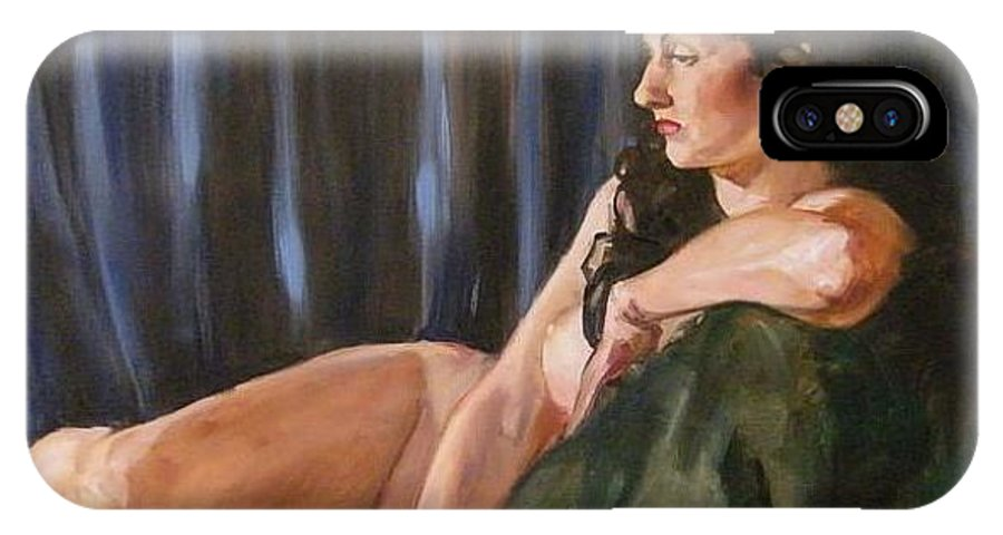 Nude IPhone Case featuring the painting Dolly by Debra Jones