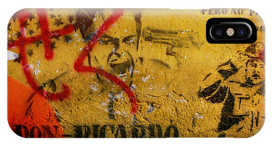 Grafitti IPhone X Case featuring the photograph Don-ricardo by Skip Hunt