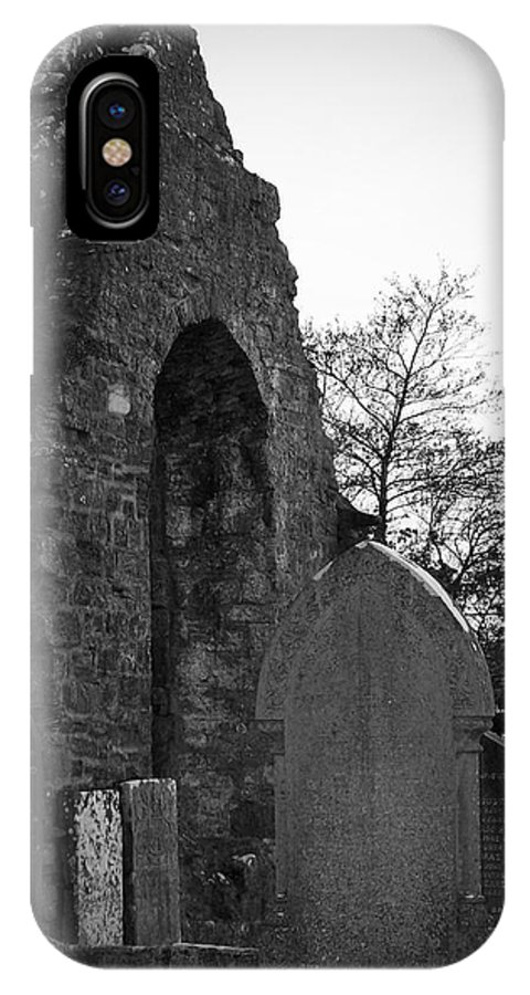 Irish IPhone X Case featuring the photograph Donegal Abbey Ruins Donegal Ireland by Teresa Mucha