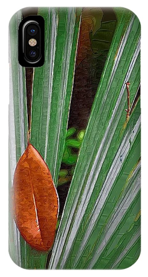 Leaves IPhone X Case featuring the photograph Don't Leaf by Donna Bentley