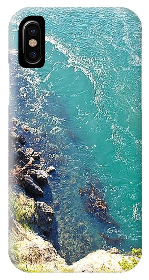 Water IPhone X / XS Case featuring the photograph Don't Look Down 2 by Katy Granger