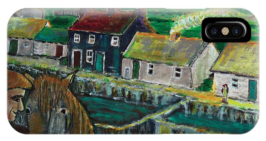 Doolin Ireland IPhone X Case featuring the painting Doolin Ireland Sunset by Richard W Dillon