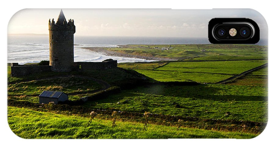 Doonagore IPhone X Case featuring the photograph Doonagore Castle Co.clare Ireland by Pierre Leclerc Photography