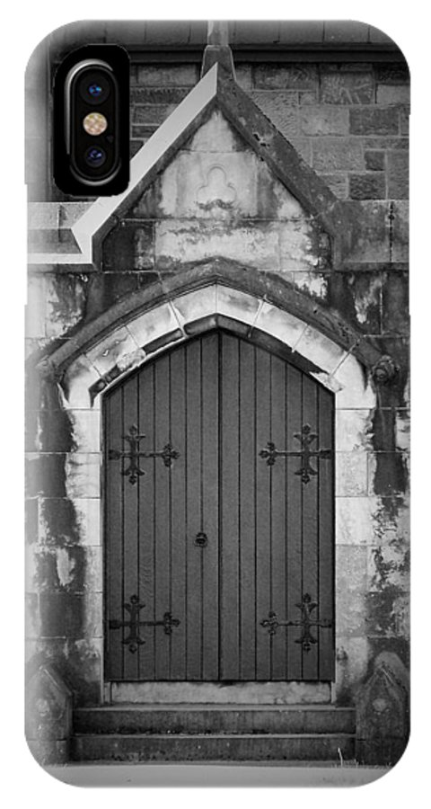 Irish IPhone Case featuring the photograph Door At St. Johns In Tralee Ireland by Teresa Mucha