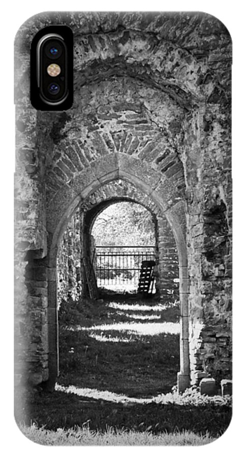 Irish IPhone X Case featuring the photograph Doors At Ballybeg Priory In Buttevant Ireland by Teresa Mucha