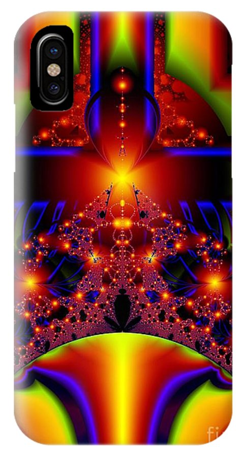 Door Art IPhone X Case featuring the digital art Doorway To The Universe Detail by Ron Bissett