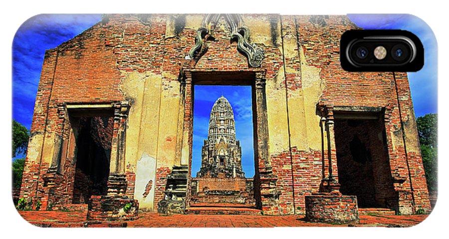 Ayuthaya IPhone X / XS Case featuring the photograph Doorway To Wat Ratburana In Ayutthaya, Thailand by Sam Antonio Photography