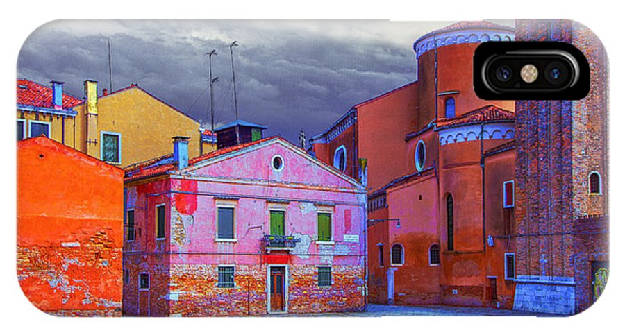 Italy IPhone X Case featuring the photograph Dorsoduro Colors Under The Clouds 2 by Jean-luc Bohin