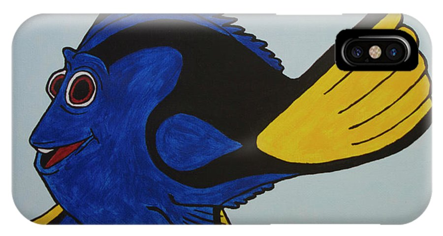 Dory IPhone X Case featuring the painting Dory by Tami Maldonado