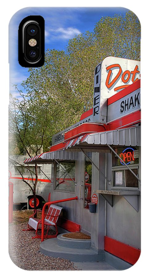 Diner IPhone X Case featuring the photograph Dot's Diner In Bisbee by Charlene Mitchell