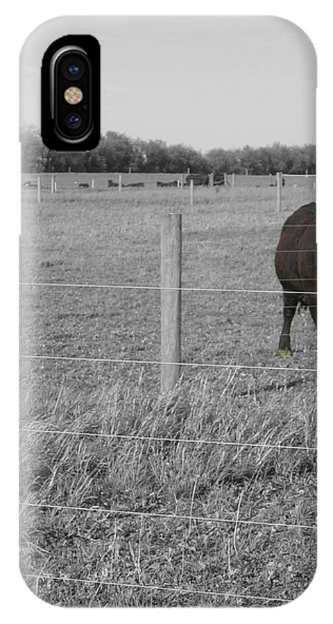 Rural IPhone X / XS Case featuring the photograph Double Post by Dylan Punke