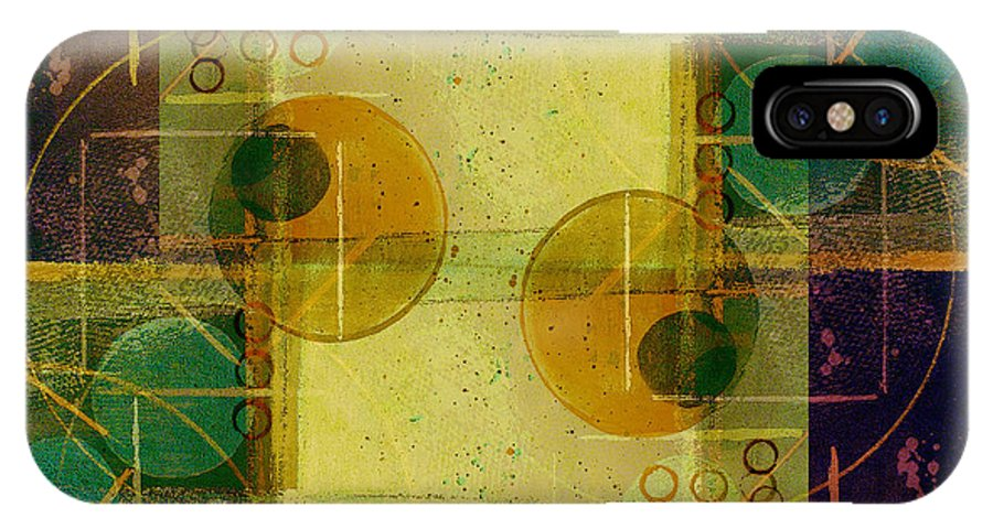 Abstract IPhone Case featuring the digital art Double Vision by Ruth Palmer